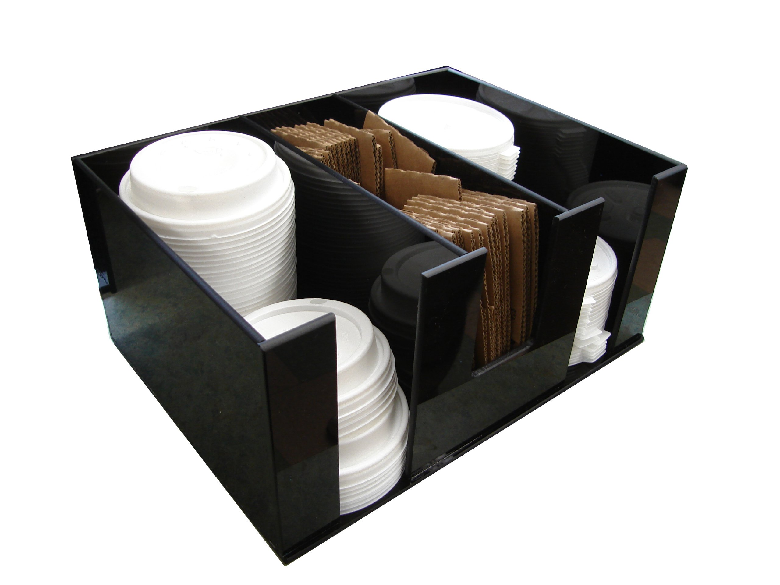 Coffee Condiment Organizer and Lid Dispenser or Caddy for Condiment Packets (3008) by RCS Plastics (Image #2)