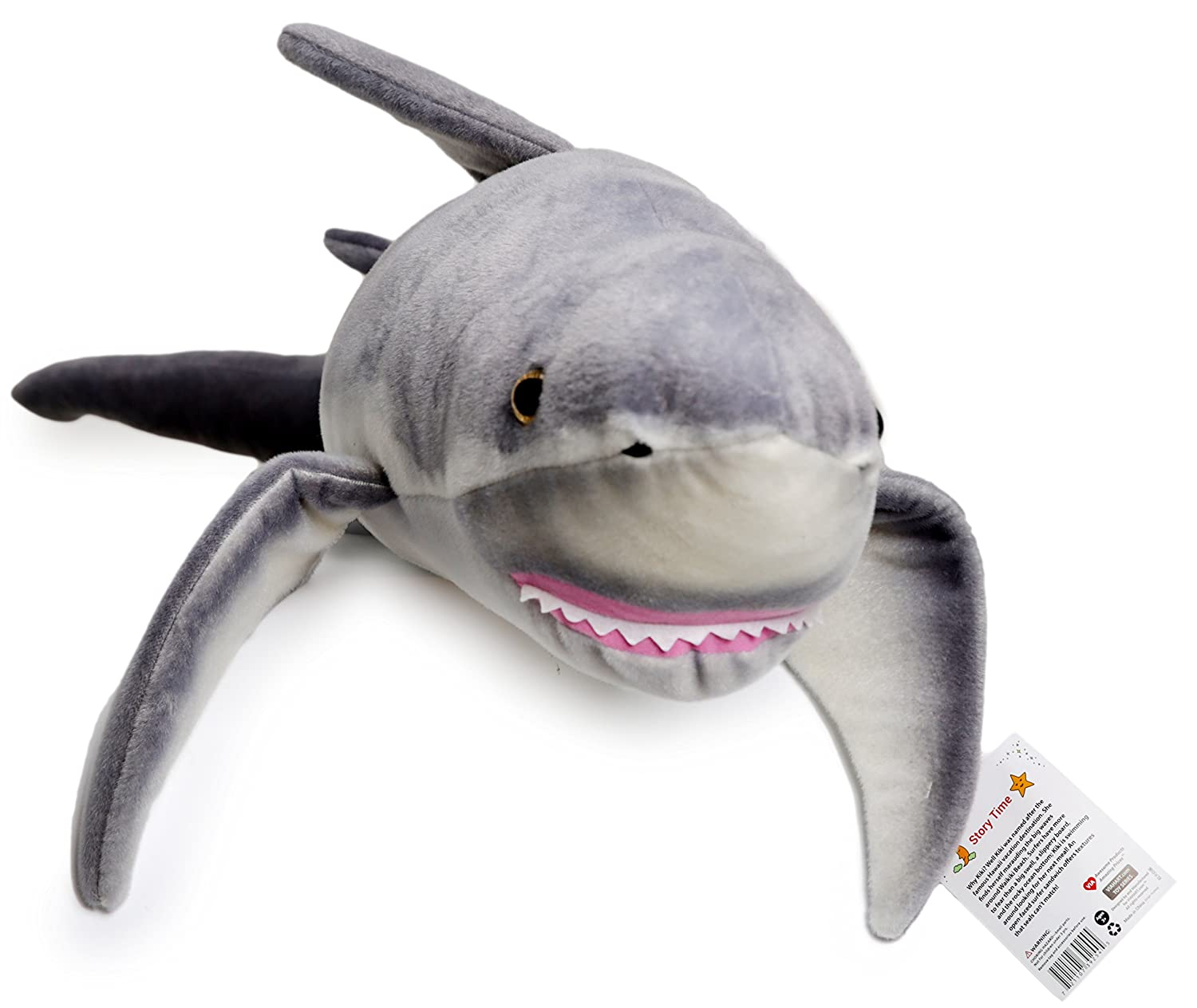 VIAHART Kiki The Great White Shark | 4 1/2 Foot Long Big Stuffed Animal Plush | Shipping from Texas | by Tiger Tale Toys