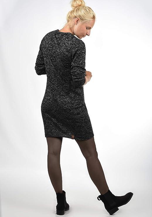9ae2844fb3 BlendShe Danielle Vestido de Punto Vestidos Casuales para Mujer con Cuello  Redondo De 100% Algodón  Amazon.es  Ropa y accesorios