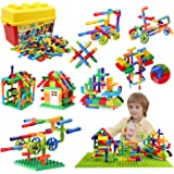 burgkidz 176 Piece Pipe Tube Toy, Sensory Toys, Tube Locks Construction Building Blocks, Educational STEM Building…