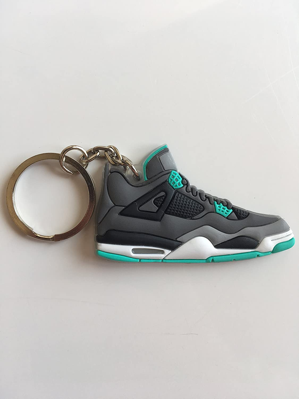 c80bddcfa4dc76 Amazon.com   Jordan Retro 4 Green Glow Sneaker Keychain Shoes Keyring AJ 23  OG   Sports   Outdoors