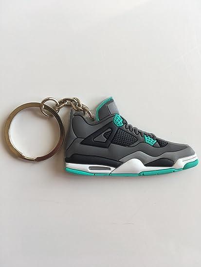 half off 0873f 8a2a3 Amazon.com : Jordan Retro 4 Green Glow Sneaker Keychain ...