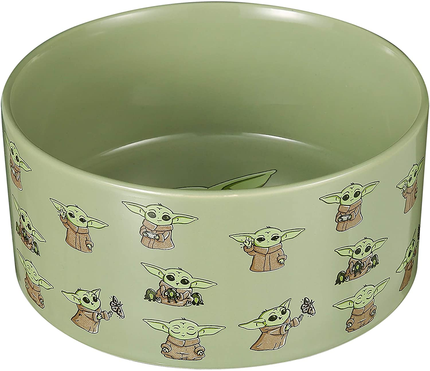 STAR WARS The Mandalorian Ceramic Dog Bowl, 3.5 Cups | Meal Time | Dog Water Bowl for Dry Food or Wet Food for All Dog