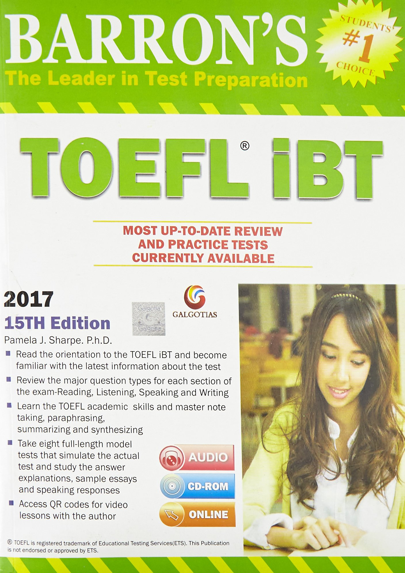 Amazon buy barrons toefl ibt 15th edition dvd book online at amazon buy barrons toefl ibt 15th edition dvd book online at low prices in india barrons toefl ibt 15th edition dvd reviews ratings fandeluxe Choice Image
