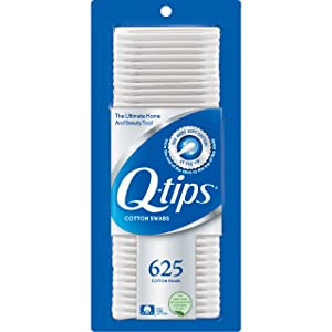 Q-tips Cotton Swabs, 625 ct
