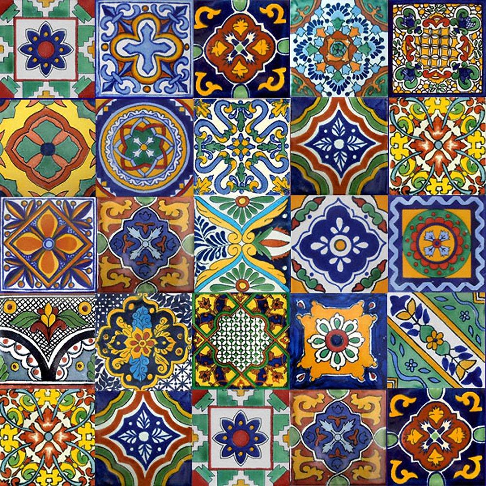 Uncategorized Mexican Tile Kitchen Backsplash amazon com 100 mexican tiles mix home kitchen