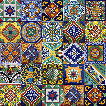 Charmant 100 Mexican Tiles Mix