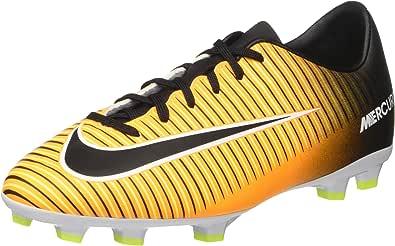 NIKE Jr. Mercurial Victory VI FG Soccer Cleat (Sz. 6Y) Laser Orange, Black