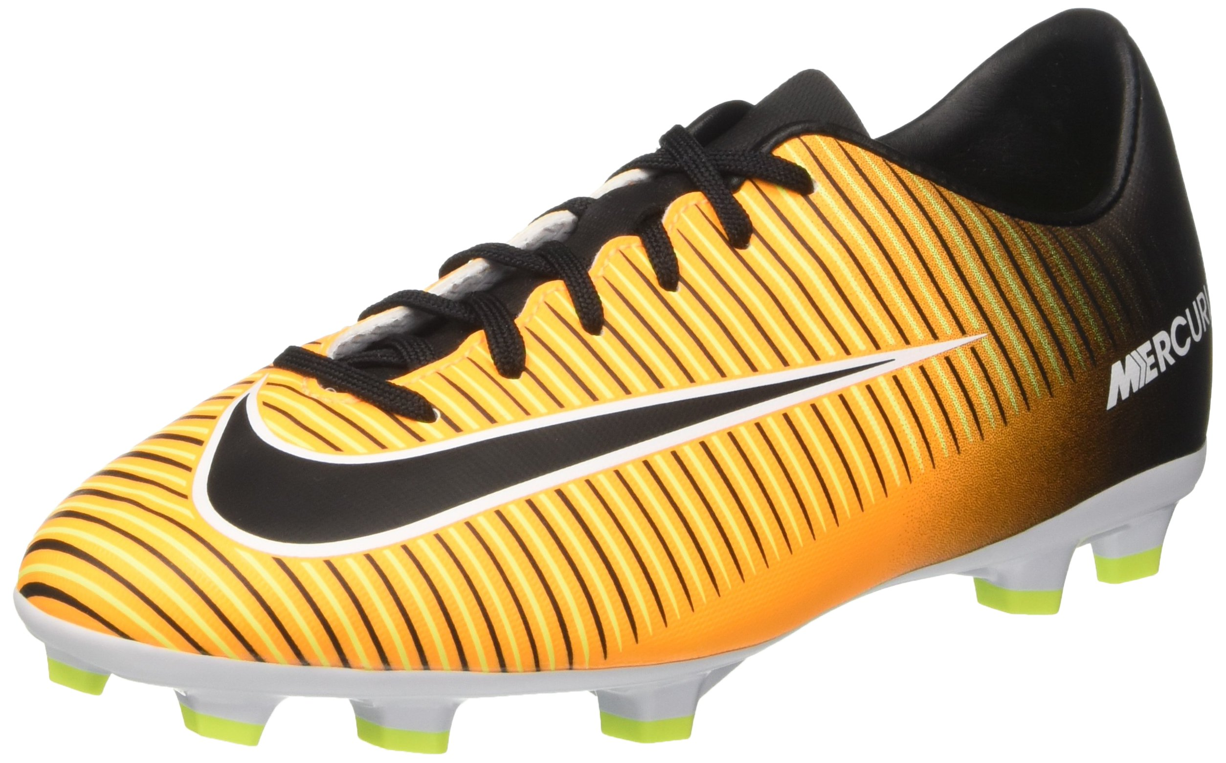 Nike Unisex JR Mercurial Victory VI FG, Laser Orange/Black-White-Volt, 2Y