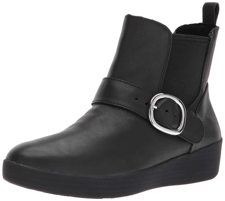 FitFlop Women's Superbuckle Leather Chelsea Fashion Boot B06XG73PB9 5 B(M) US|Black