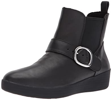 42e2185b570493 FitFlop Women s SUPERBUCKLE Leather Chelsea Boots Fashion