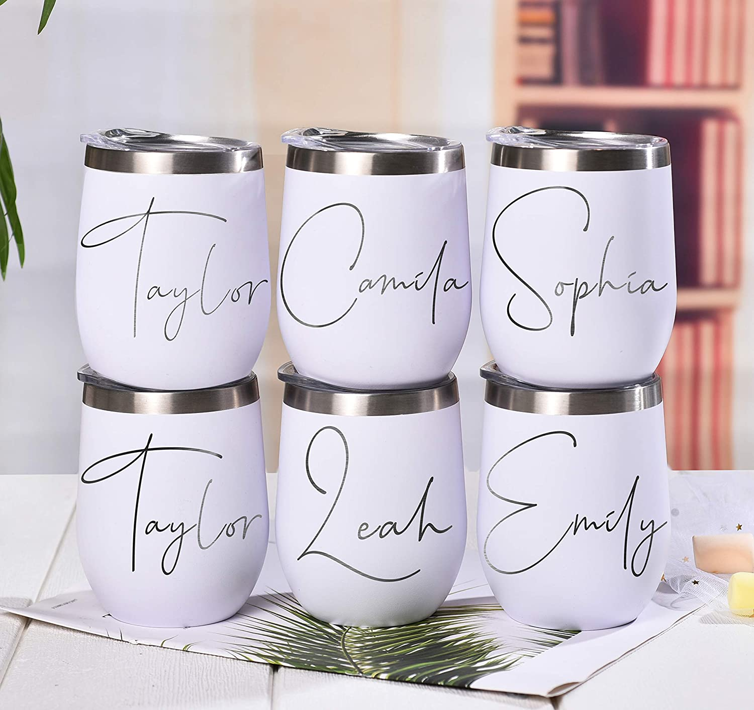 Personalized Tumbler,Wine Tumbler,Stemless Wine Cup,Wine Cup with Lid,Lid and Straw,Bridesmaid Gift,Gift Bachelorette,Bridal Wedding Gift,Double Wall Tumbler,Wedding Tumbler,Graduation Gifts