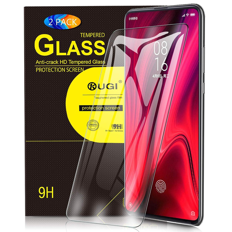 Para Xiaomi Mi 9t Protector De Pantalla Kugi Paquete De 2 Para Xiaomi Mi 9t Pro Protector De Pantalla Cristal Templado 9h Dureza Protector De Pantalla Diseñado Para Xiaomi Mi 9t