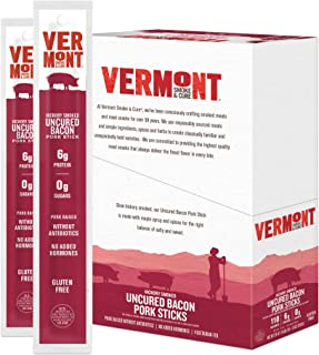 product image for Vermont Smoke & Cure Meat Sticks - Antibiotic Free Pork Sticks - Gluten-Free Snack - Uncured Bacon -1oz Stick - 24 count (1 pack)