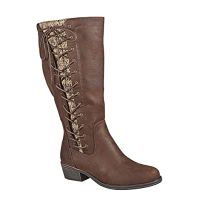 -AVENUE Women's Villa Tall Side Lace Boot