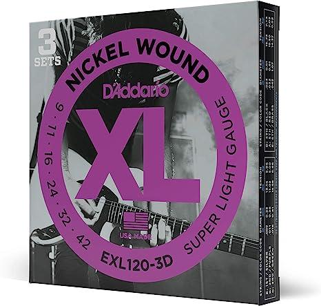 DAddario EXL120-3D - Juego de cuerdas para guitarra eléctrica de ...