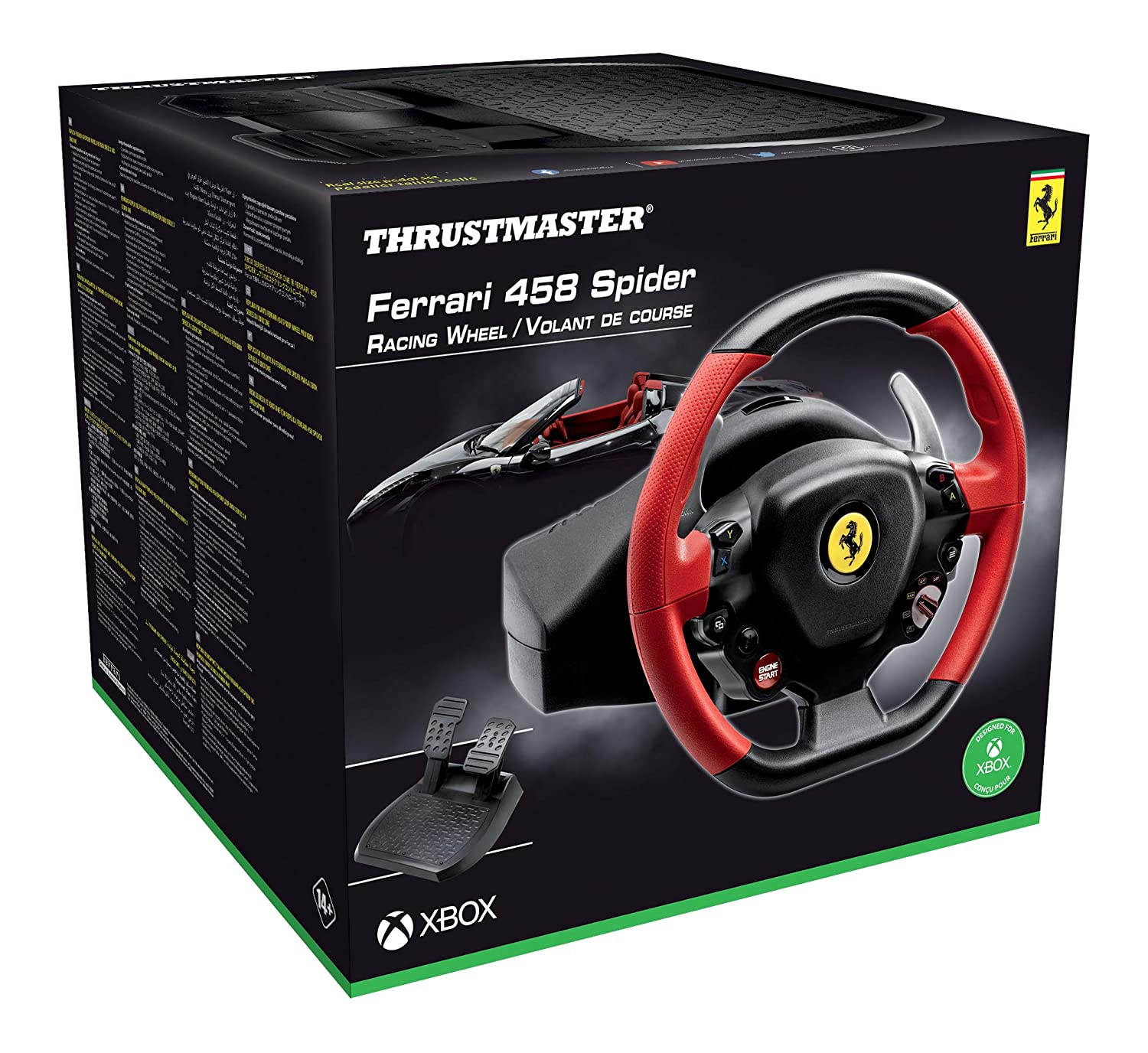 Thrustmaster Ferrari 458 Spider Racing Wheel Replik Des Ferrari 458 Spider Lenkers Großes Anpassbares Und Optimiertes Pedalset Funktioniert Mit Xbox Series X S Amazon De Games