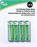 TKA Köbele batería técnica de níquel de zinc batería AA Mignon, 1,6V, 1500mAh, 4unidades)
