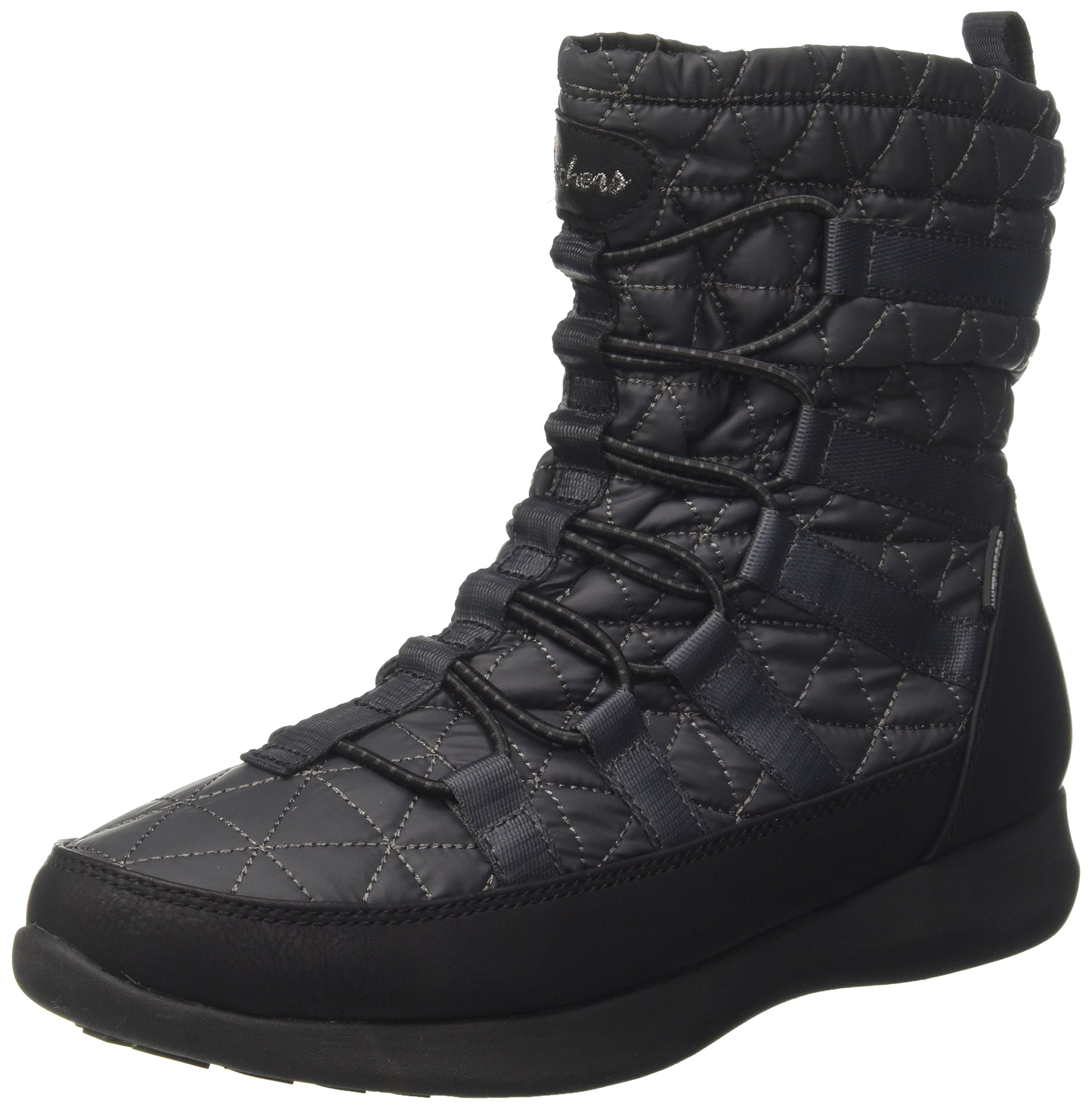 Skechers Women's Boulder Snow Boot,Charcoal/Black,8