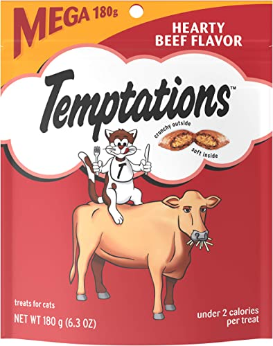 TEMPTATIONS Classic Crunchy and Soft Cat Treats, 6.3 oz.
