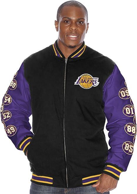 Los Angeles Lakers Nba Triple Double Championship Commemorative Canvas Jacket Amazon Co Uk Sports Outdoors
