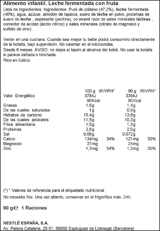 Nestlé Iogolino - Bolsitas Iogolino Plátano A Partir De 6 Meses (90 g): Amazon.es: Alimentación y bebidas
