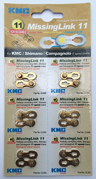 8 9 10 11 Speed Reusable 6 Pairs Bundle Value Pack KMC Missing Link 6 7