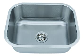 Wells Sinkware CMU2318-9 18-Gauge Single Bowl Undermount Kitchen ...