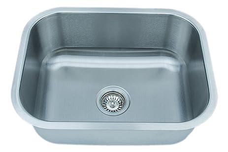 Wells Sinkware CMU2318-9-1 18-Gauge Single Bowl Undermount Kitchen ...