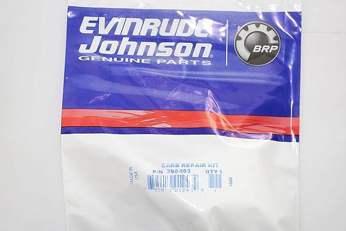 OEM Evinrude Johnson BRP Outboard Carburetor Kit 398453