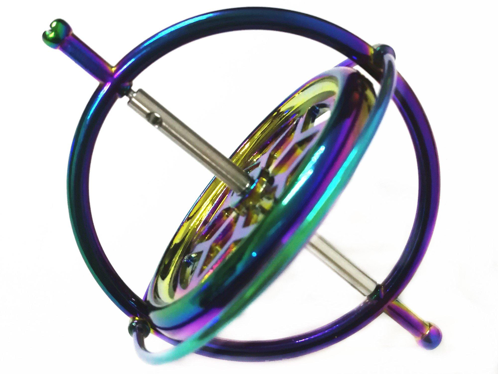 Joytech Precision Gyroscope Kill Time Metal Anti-Gravity Spinner Balance Toy Colorful JA05 by Joytech (Image #3)
