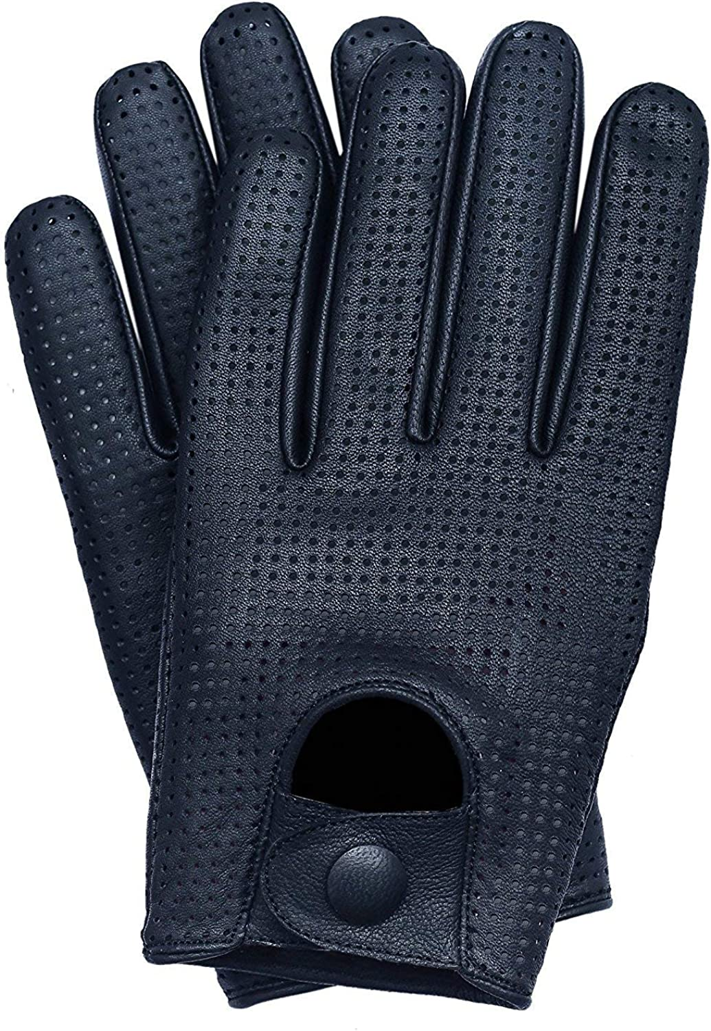 Riparo Mens Touchscreen Texting Mesh Perforated Summer Driving Motorcycle Leather Gloves
