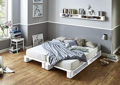 Estructura de Cama de palets color Blancos - Somieres de ...