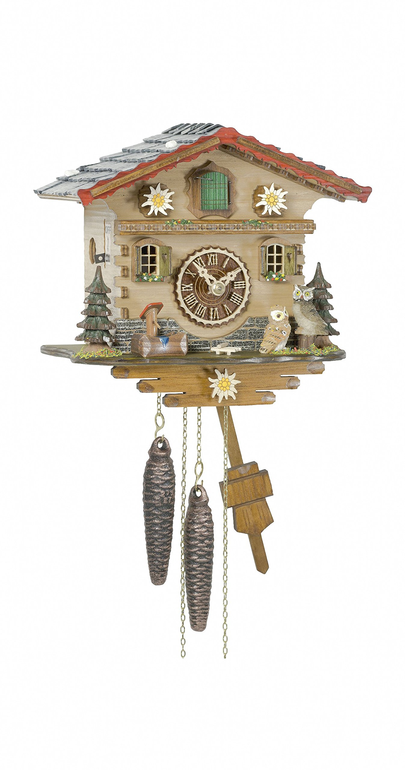 1 day running time cuckoo Clock Swiss House by Trenkle Uhren