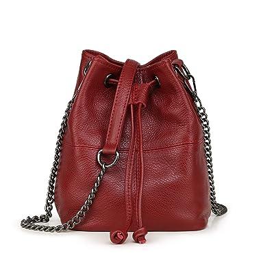 72bb04784572 HITSAN INCORPORATION 2018 New Arrival Female Bucket Bags Genuine Leather  Handbags Famous Brand Design Women Messenger