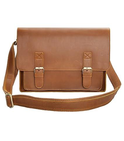 95b683157412 Image Unavailable. Image not available for. Color  Leather Messenger Bag  ZLYC 15.6 Inch Macbook Laptop Bag Vintage Briefcase Men Shoulder ...