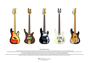 George Morgan Illustration Famosas Guitarras Bajas (#2) Arte ...
