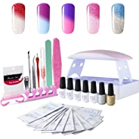 Sexy Mix Gel Nail Polish Starter Kit with UV LED Dryer Manicure Tools