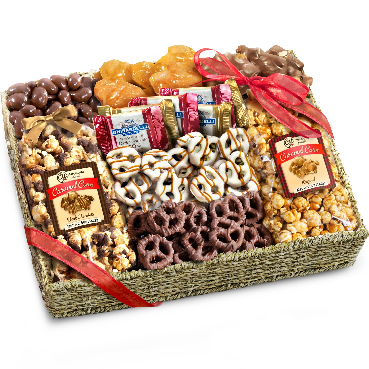 Amazon nuts gift baskets gourmet food baskets nuts gift chocolate caramel and crunch grand gift basket negle Choice Image