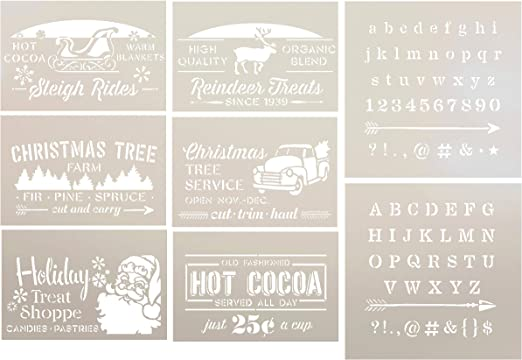Christmas Trees STENCIL 2 sizes Decoration Star Xmas Crafts SUPERIOR 250 MYLAR