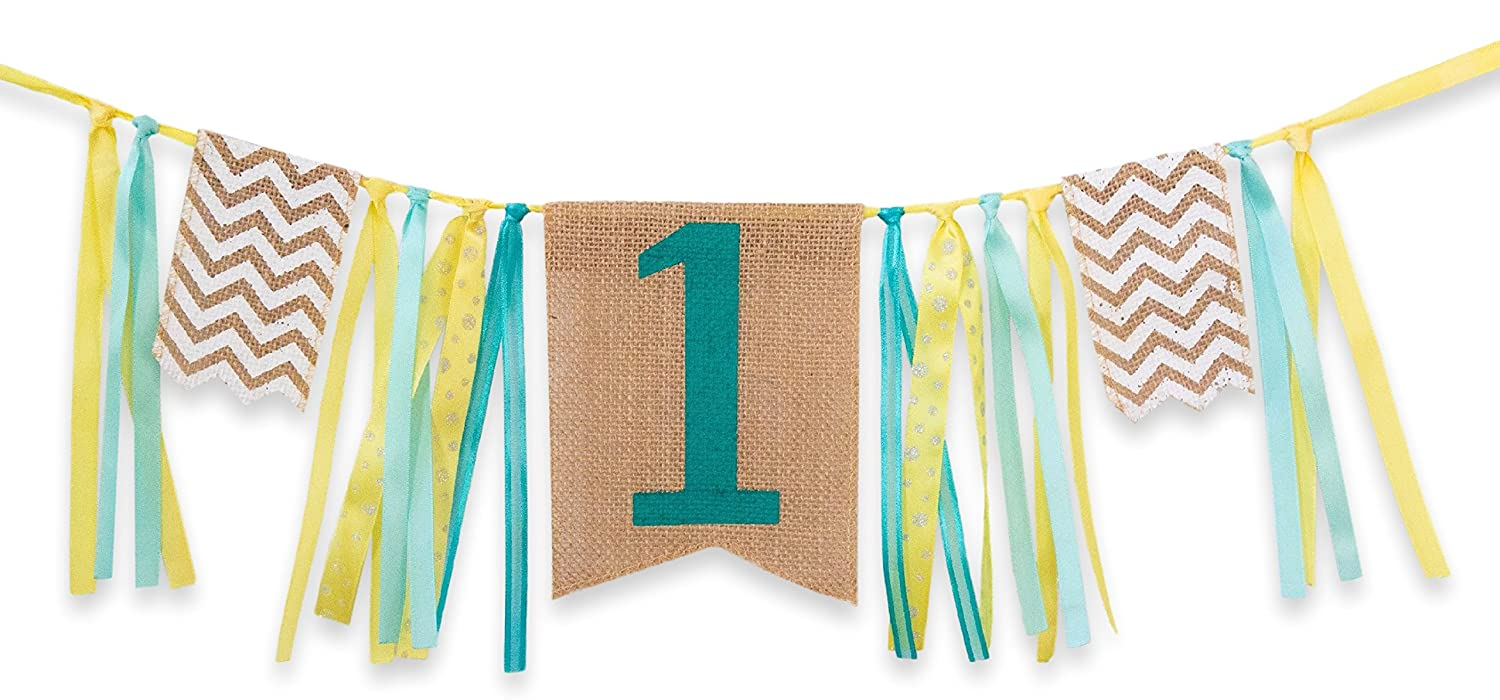 first birthday decorations 1st birthday burlap highchair banner for boy toys games