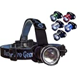 The FAMOUS Lighthouse Beacon 1000 LED Headlamp Flashlight by Outdoor Pro Gear. Super Bright High Power Zoomable Headlight Spotlight for Camping Hiking Running Hunting & Fishing. 1000 Lumens! (Black)