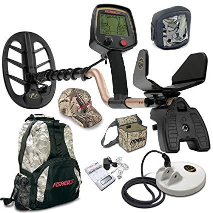 Fisher F75 LTD BLACK Metal Detector Bundle with Boost and Cache Process + NEW Leading Edge