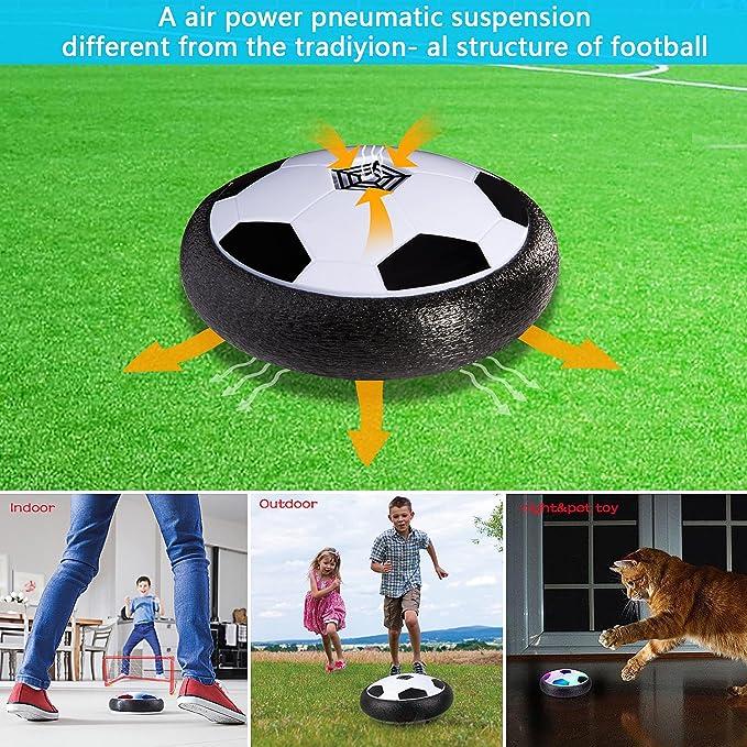 Batterien nicht enthalten ZWOOS Air Power Soccer Fu/ßball mit LED Beleuchtung und Musik Kinder Air Fussball Spielzeug f/ür Drinnen und Drau/ßen
