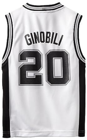 Outerstuff NBA SAN ANTONIO SPURS Manu Ginobili # 20 juventud réplica camiseta, color blanco,