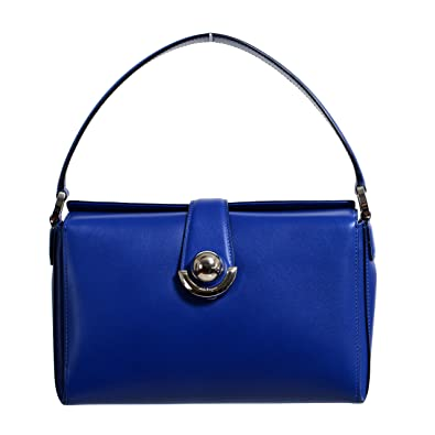 eb711a6fb991 Image Unavailable. Image not available for. Color  Salvatore Ferragamo  Women s Alisa Blue Leather Handbag Bag