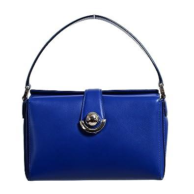 Image Unavailable. Image not available for. Color  Salvatore Ferragamo  Women s Alisa Blue Leather Handbag Bag 18423bc89c882
