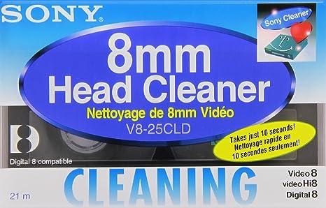 Sony V8-25CLD 8mm / Hi8 / Digital8 Camcorder Video Head Cleaning cassette