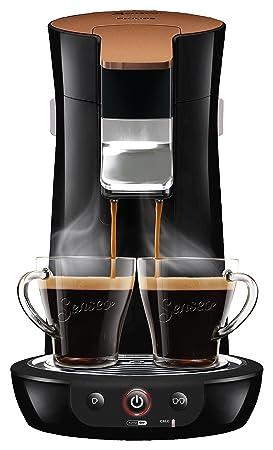 Senseo Viva Café HD7836/90 - Cafetera (Independiente, Máquina de café en cápsulas, 0,9 L, Dosis de café, 1450 W, Negro, Oro): Amazon.es: Hogar
