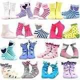Amazon Price History for:TeeHee Kids Girls Fashion Variety Cotton Crew 18 Pair Pack Gift Box
